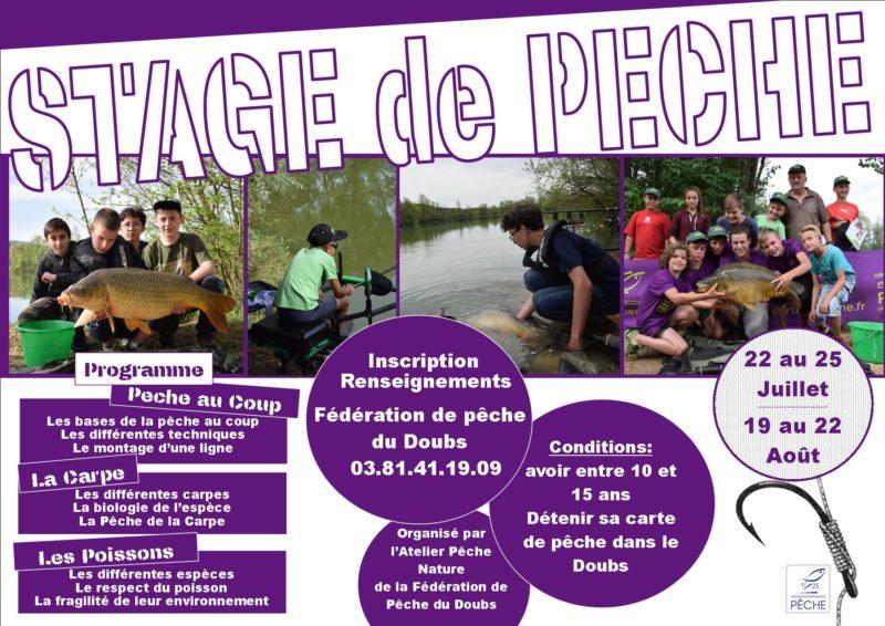 Stages de pêche cet été