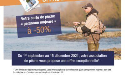 """Votre carte de pêche """"personne majeure"""" à moitié prix cet automne"""