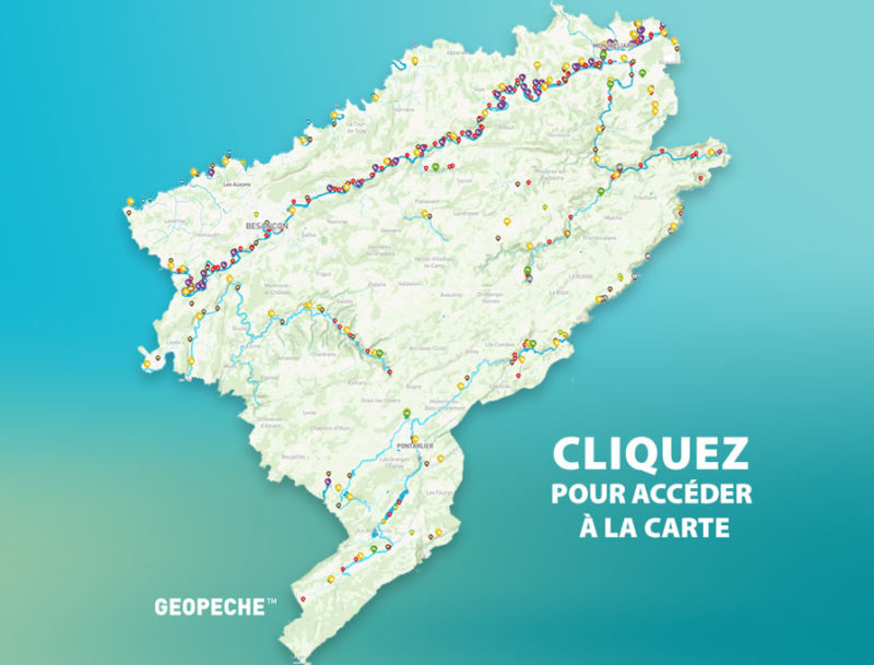 Fédération de Pêche du Doubs carte interactive